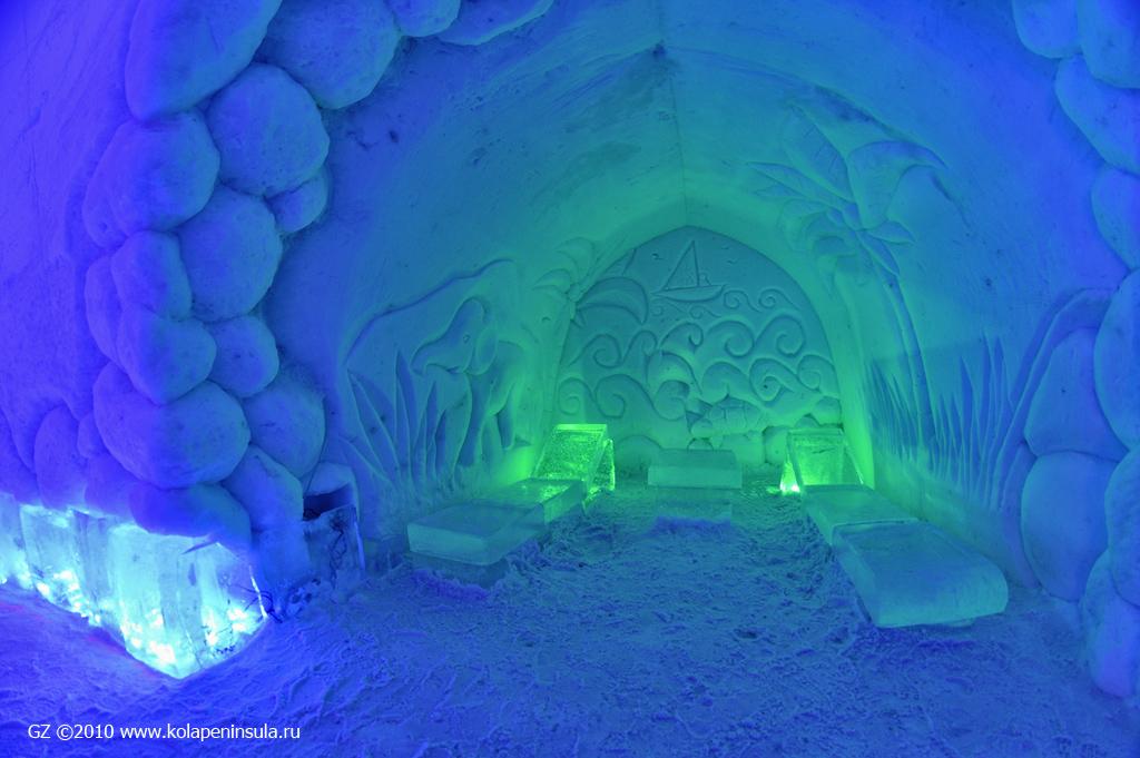 фото снежной деревни в кировске