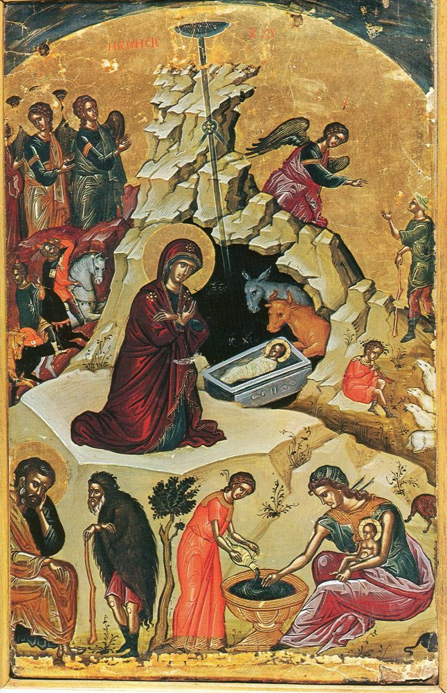 Рождество Христово, греческая икона XVI ...: www.logoslovo.ru/forum/all/topic_13542