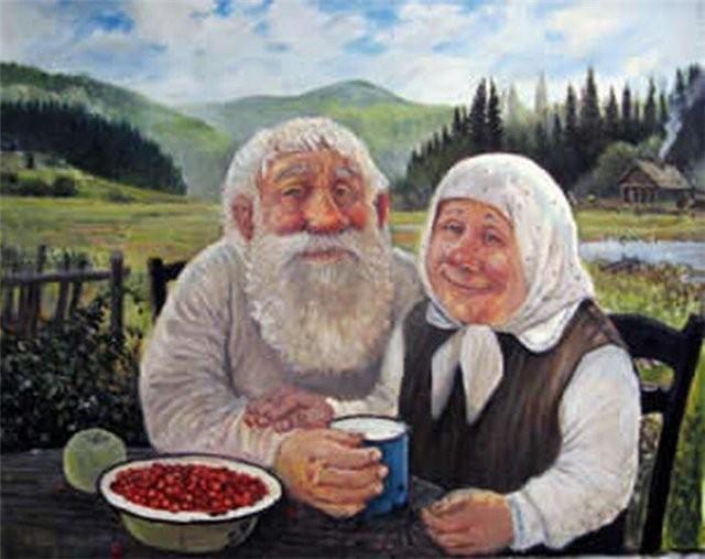 Старый дед с бабкой фото 262-172