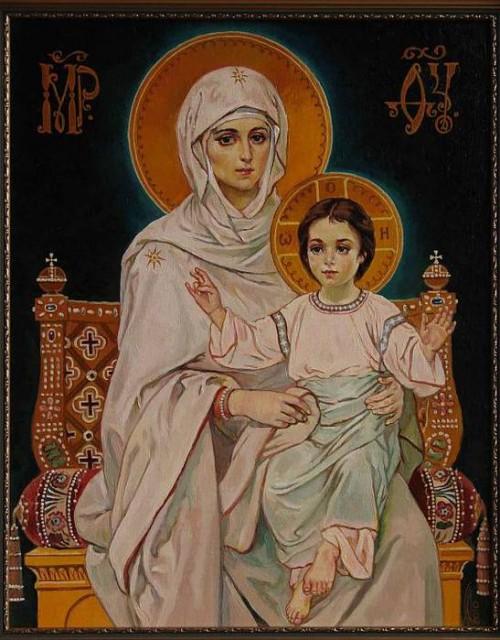 Богородица с младенцем 1047 просмотров